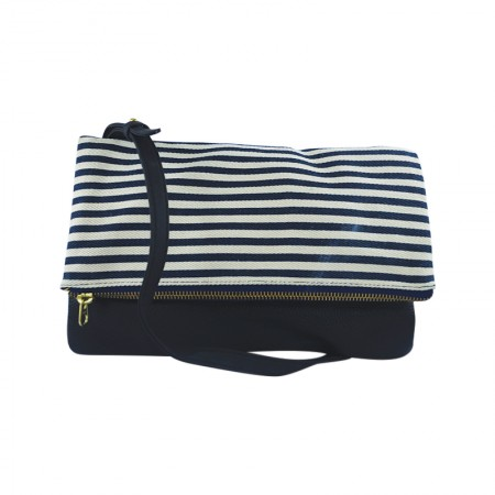 Blue and White Clutch